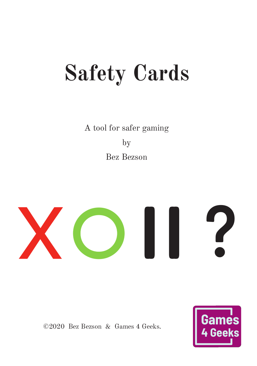 Safety Cards cover
